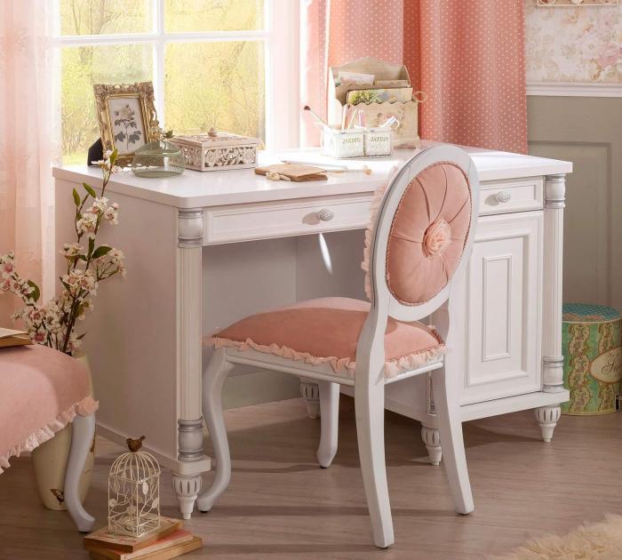 Masa de birou, pentru copii si tineret Colectia Romantic, 117x62x75 cm [1]