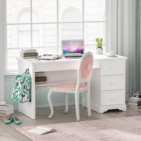 Masa de studii pentru camera fetelor Colectia Rustic White [4]