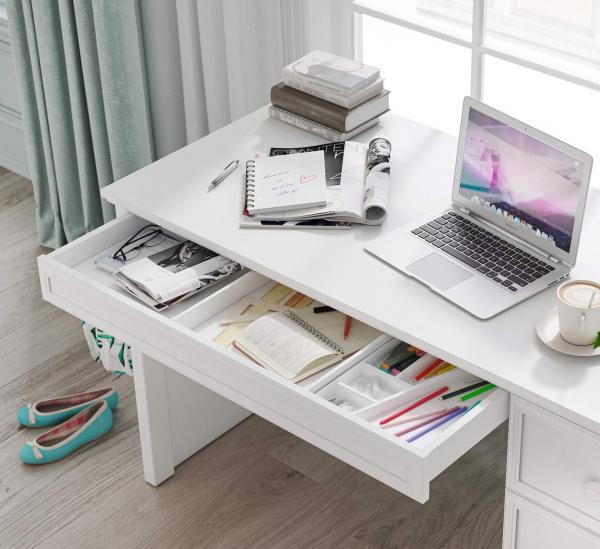 Masa de studii pentru camera fetelor Colectia Rustic White [3]
