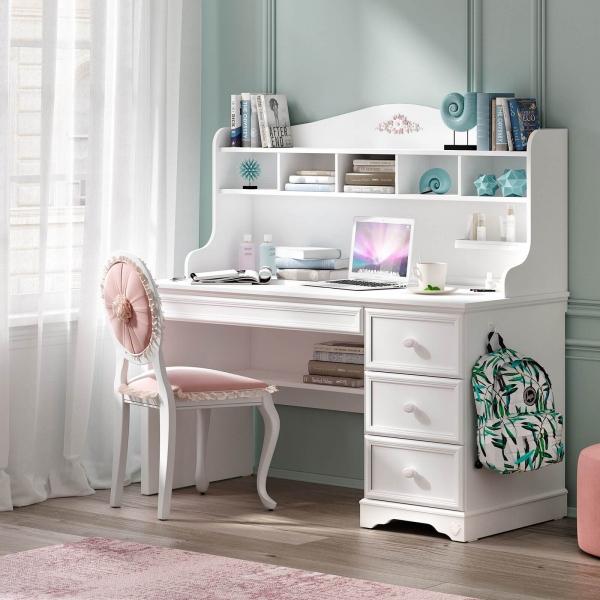 Masa de studii pentru camera fetelor Colectia Rustic White [2]