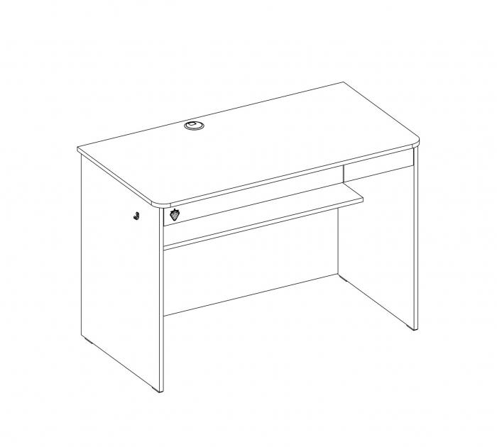 Masa de birou, pentru copii si tineret Colectia White [2]