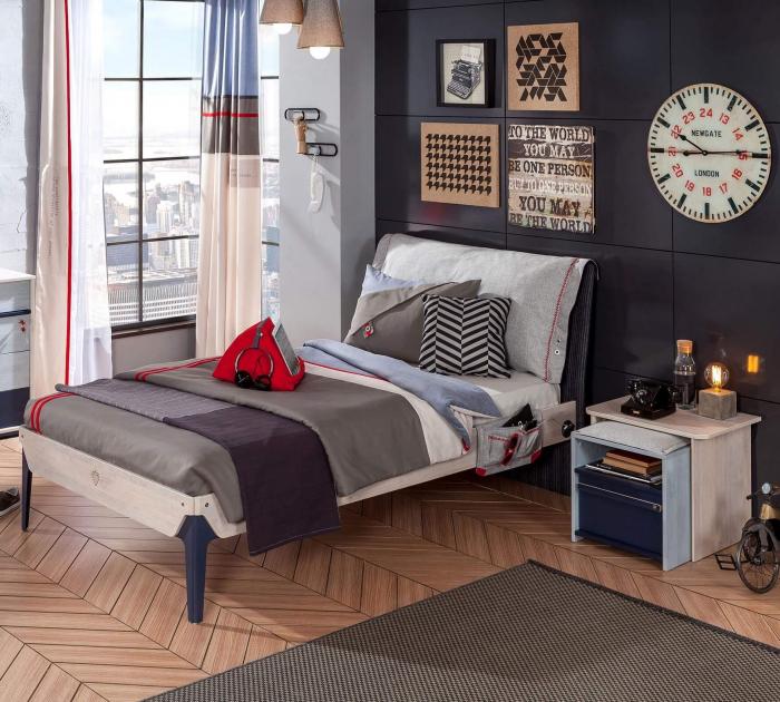 Noptiera camera pentru copii Colectia Trio 55x41x48 cm [2]