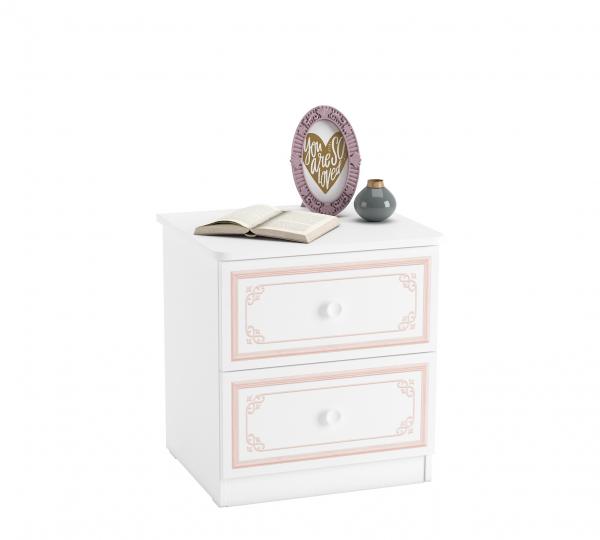 Noptiera cu 2 sertare, pentru camera fetelor, Colectia Selena Pink [0]