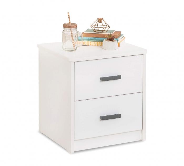 Noptiera pentru camera copii si adolescenti Colectia White 43x46x41 cm [0]