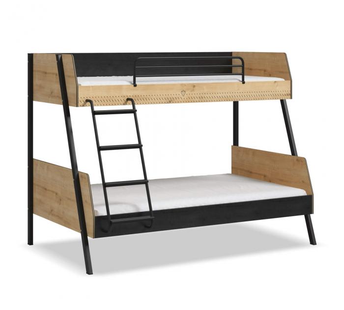 Pat etajat pentru copii, Colectia Black (90x 200-120x200 cm) [3]
