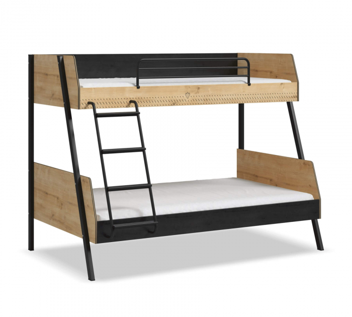 Pat etajat pentru copii, Colectia Black (90x 200-120x200 cm) [0]