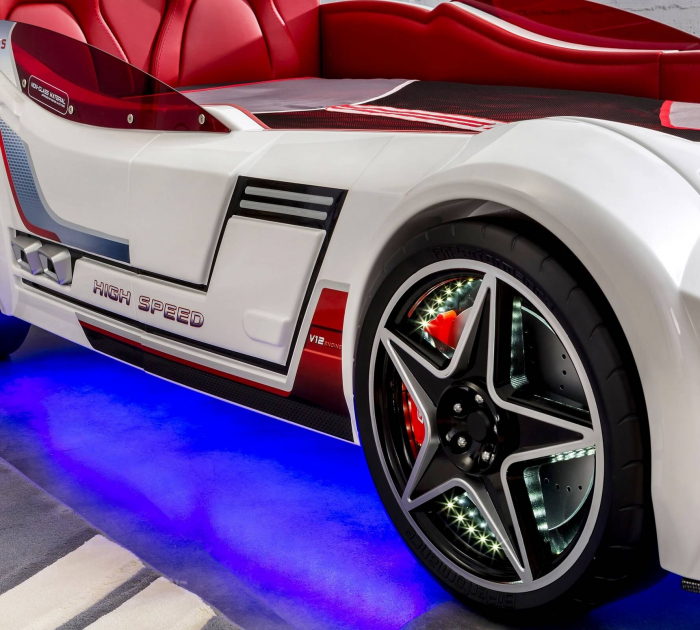 Pat masina GTS-alba, colectia Champion Racer 99x191 cm [5]