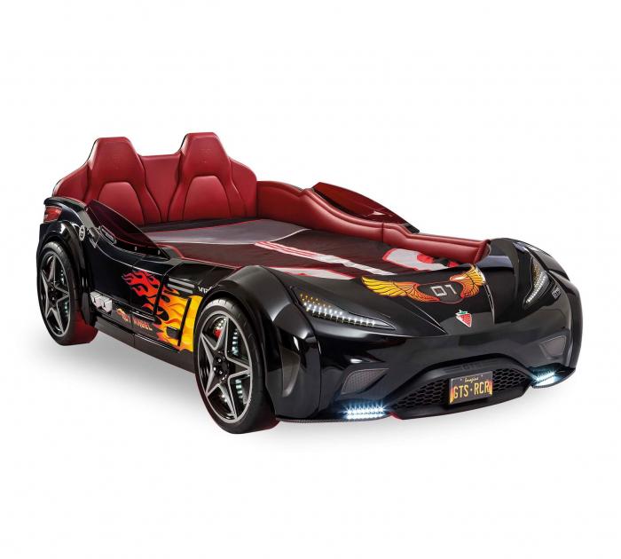 Pat masina GTS-negru, colectia Champion Racer 99x191 cm [0]