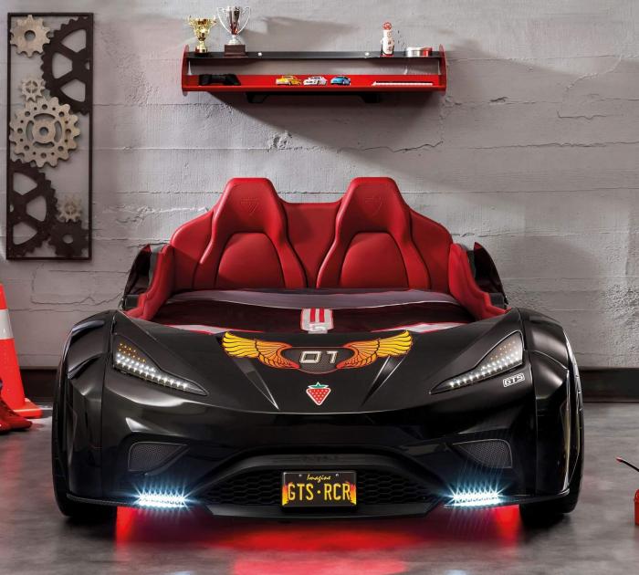 Pat masina GTS-negru, colectia Champion Racer 99x191 cm [2]