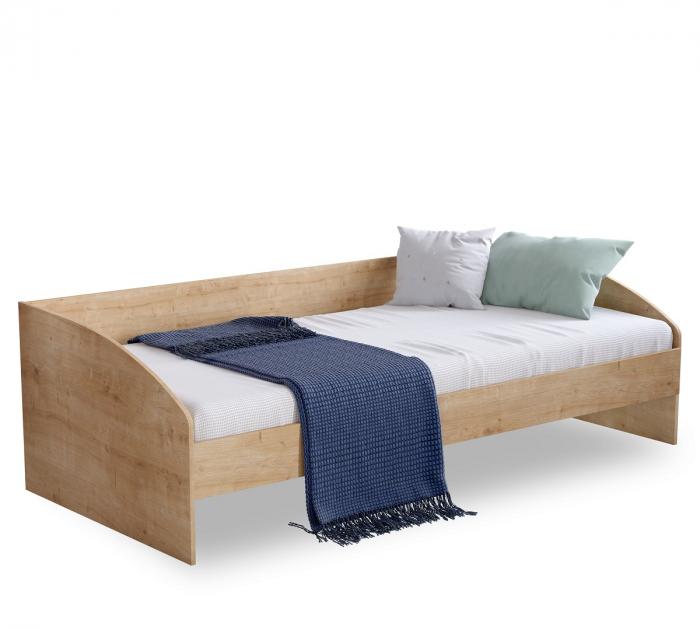 Pat cu sertar si 4 perne, pentru copii Daybed Stejar, 200 x 90 cm [1]