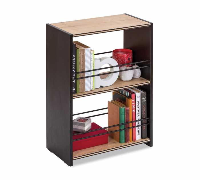 Rafturi pentru carti, camera adolescenti, Colectia Black 52x72x28 cm [0]