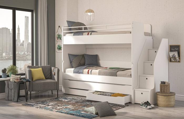 Scara pentru pat etajat Studio White [2]