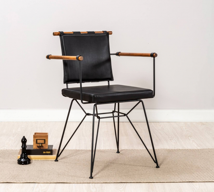 Scaun pentru copii, piele ecologica si picioare din metal Exclusive [1]