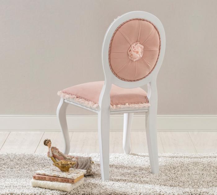 Scaun pentru copii, tapitat cu stofa cu picioare din lemn Dream Salmon [3]