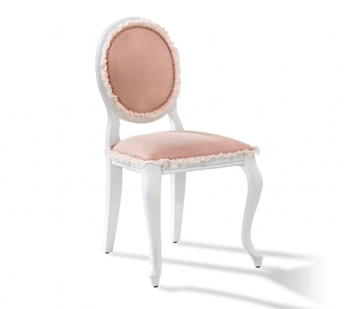 Scaun pentru copii, tapitat cu stofa cu picioare din lemn Dream Salmon [0]