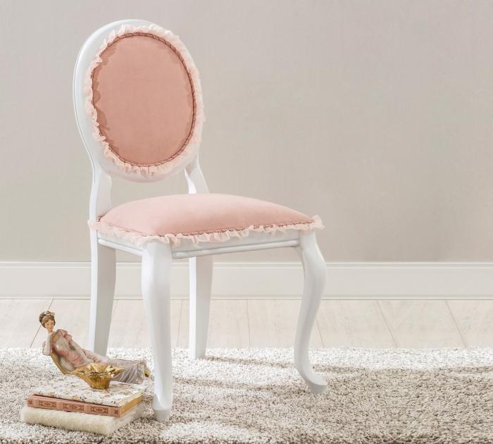 Scaun pentru copii, tapitat cu stofa cu picioare din lemn Dream Salmon [1]