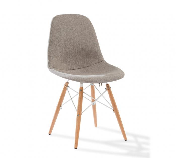 Scaun pentru copii, tapitat cu stofa cu picioare din lemn Quatro Chair Beige [0]