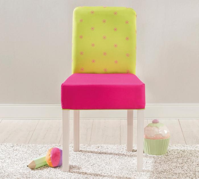 Scaun pentru copii, tapitat cu stofa cu picioare din lemn Ribbon [3]