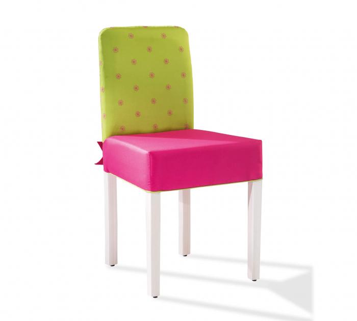 Scaun pentru copii, tapitat cu stofa cu picioare din lemn Ribbon [0]