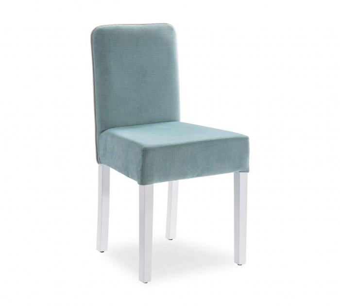 Scaun pentru copii, tapitat cu stofa cu picioare din lemn Summer Blue [0]