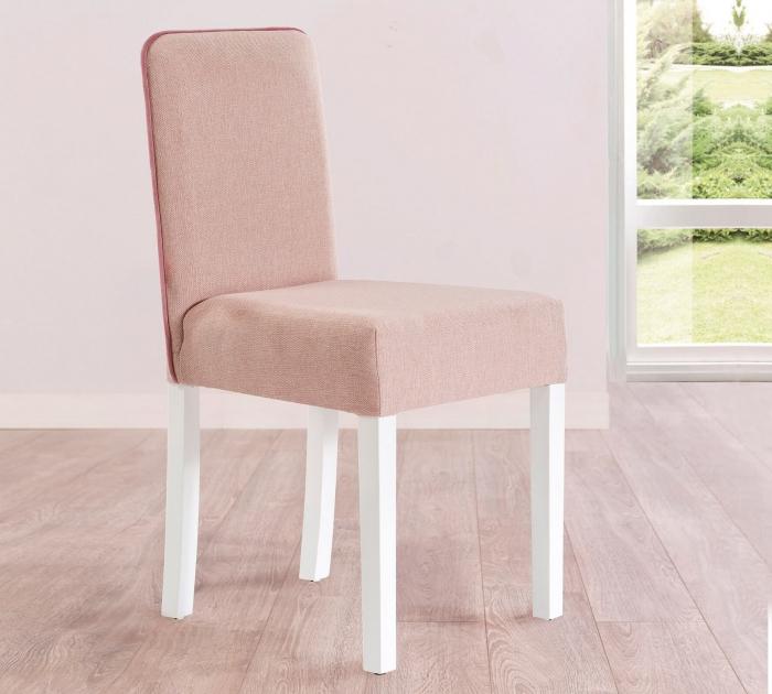 Scaun pentru copii, tapitat cu stofa cu picioare din lemn Summer Pink [1]