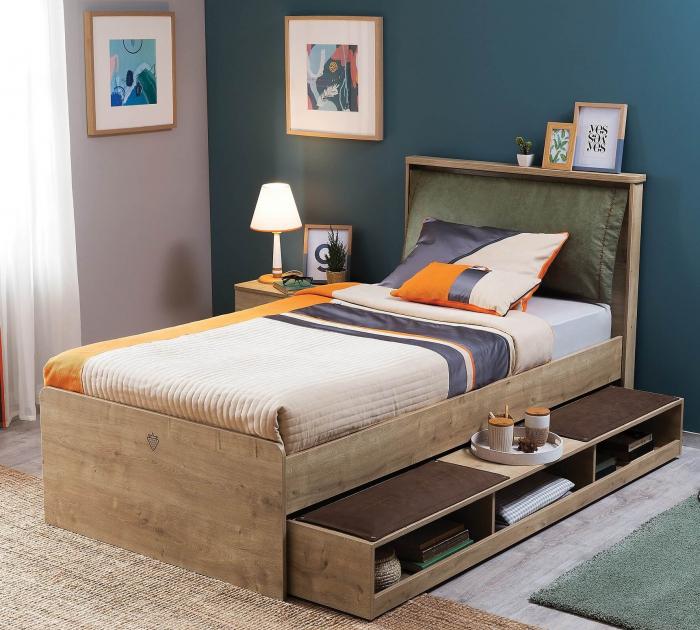 Sertar pat multifunctional  pentru camera copii si adolescenti Colectia Mocha 90x190 cm [2]