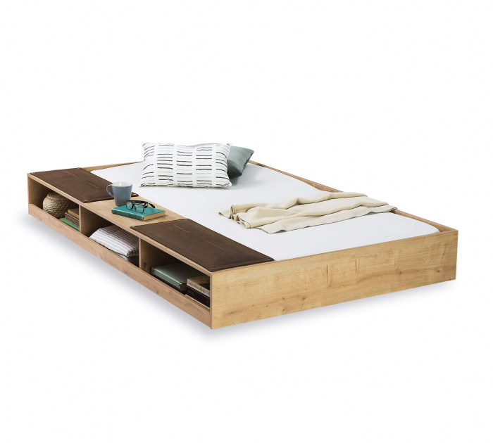 Sertar pat multifunctional  pentru camera copii si adolescenti Colectia Mocha 90x190 cm [0]