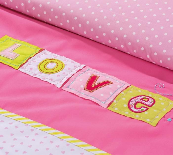 Set pentru pat copii, Colectia Love 90 x100 cm [3]