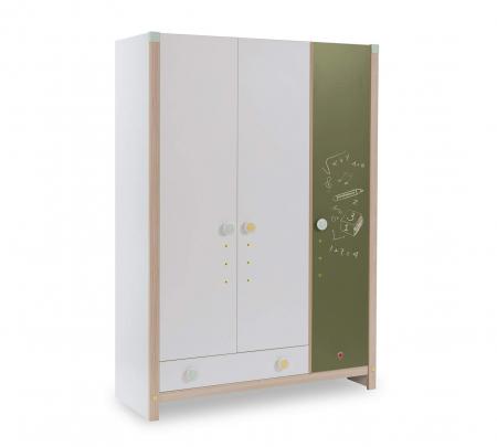 Dulap cu 3 usi cu sertar, pentru camera copii, Colectia Montessori [0]
