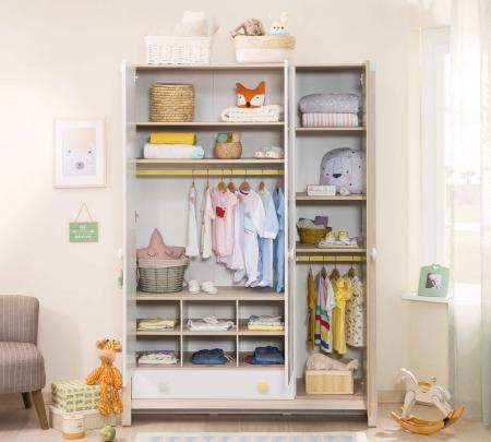 Dulap cu 3 usi cu sertar, pentru camera copii, Colectia Montessori [2]