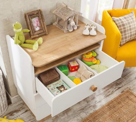 Comoda cu 3 sertare cu masuta incorporat, pentru camera copii Colectia Natura Baby [4]