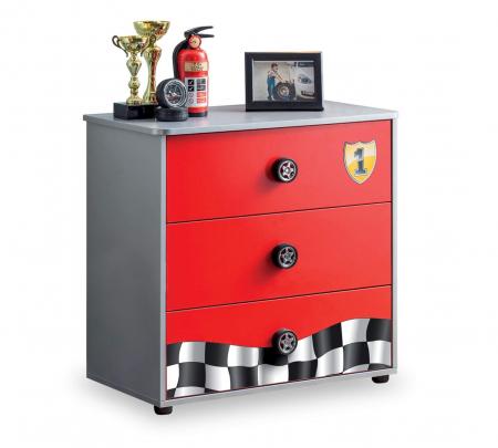 Comoda cu 3 sertare, pentru camera baieti, colectia Race Cup [0]