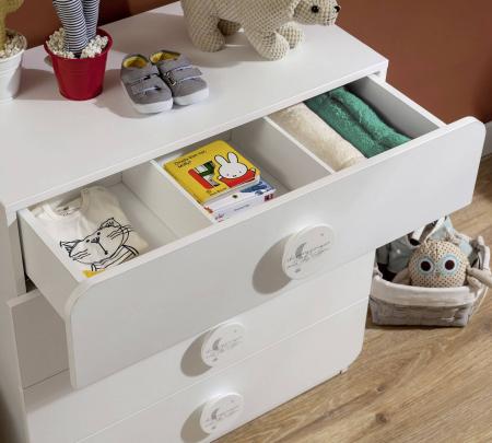 Comoda cu 4 sertare, pentru camera copii, colectia Baby Cotton [3]