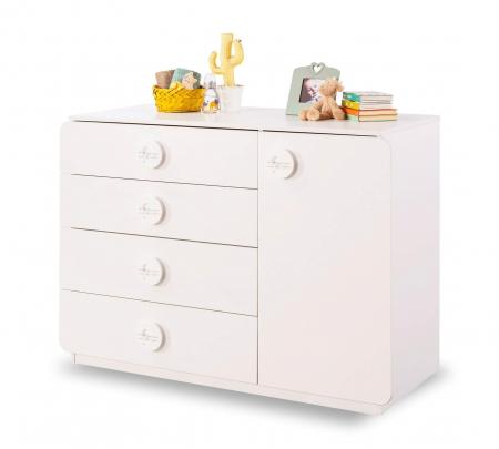 Comoda cu 4 sertare si usa, pentru camera copii, colectia Baby Cotton [0]