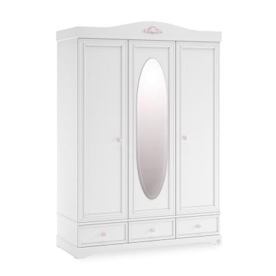 Dulap cu 3usi si oglinda Colectia Rustic White [0]