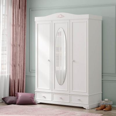 Dulap cu 3usi si oglinda Colectia Rustic White [2]