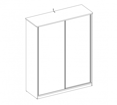 Dulap cu 2 usi glisante pentru tineret Colectia White, 164x59x206 cm [3]