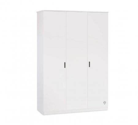 Dulap cu 3 usi  Colectia White, 137x53x197 cm [0]