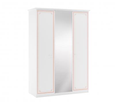 Dulap cu 3 usi si oglinda pentru camera fetelor, Colectia Selena Pink [0]