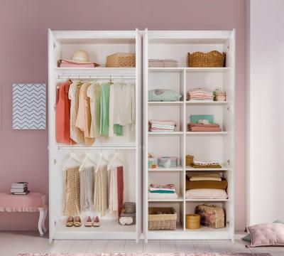 Dulap cu 4 usi pentru camera fetelor, Colectia Selena Pink [2]
