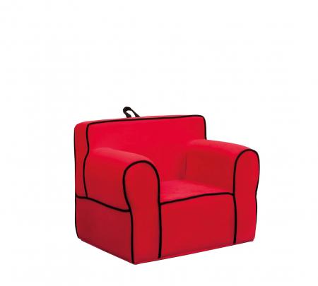 Fotoliu pentru copii tapitat cu stofa Comfort Red [0]