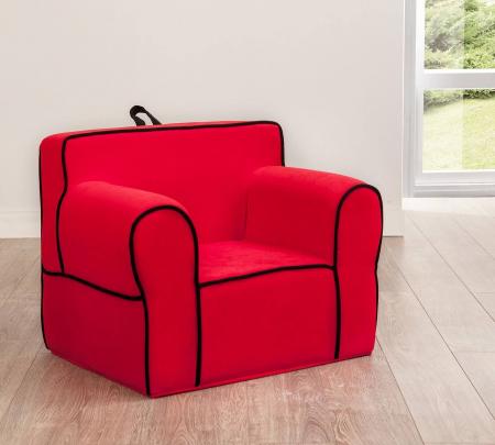 Fotoliu pentru copii tapitat cu stofa Comfort Red [1]
