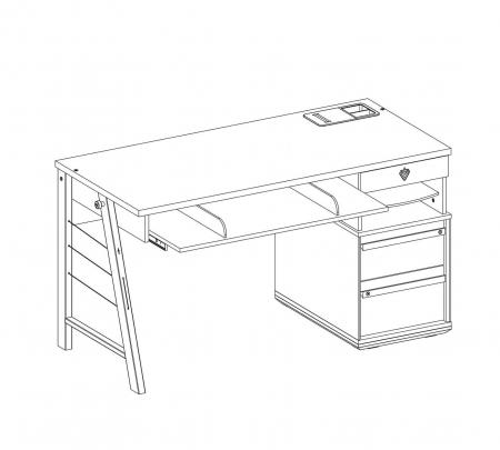 Masa birou camera copii, Colectia Trio 141x64x76 cm [4]