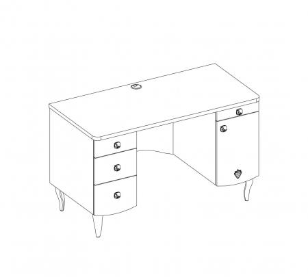 Masa de birou pentru camera fetelor Colectia Yakut [3]