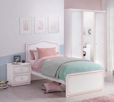 Noptiera cu 2 sertare, pentru camera fetelor, Colectia Selena Pink [1]