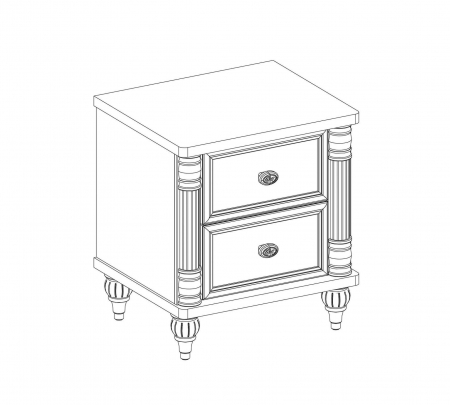 Noptiera cu 2 sertare, pentru copii si tineret Colectia Romantic, 50x42x56 cm [2]