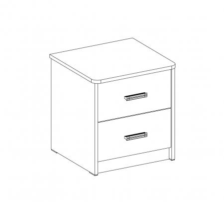 Noptiera pentru camera copii si adolescenti Colectia White 43x46x41 cm [2]
