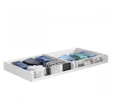 Pat cu 2 sertare si 4 perne, pentru copii Daybed Alb, 200 x 90 cm [2]