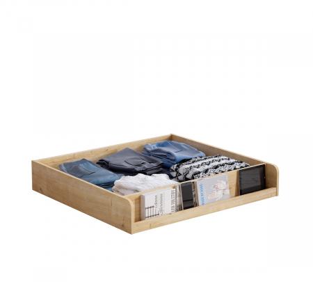 Pat cu 2 sertare si 4 perne, pentru copii Daybed Stejar, 200 x 90 cm [3]