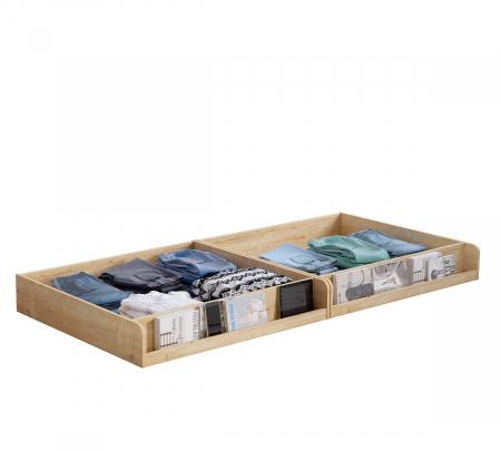 Pat cu 2 sertare si 4 perne, pentru copii Daybed Stejar, 200 x 90 cm [2]